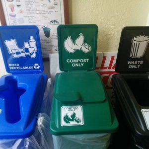 Receylcing bins at St. Paul's Centre
